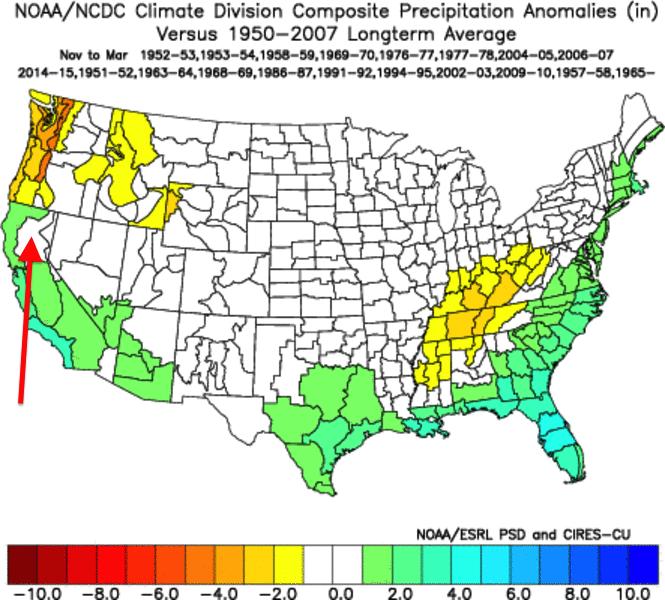 El Niño Historical Composite