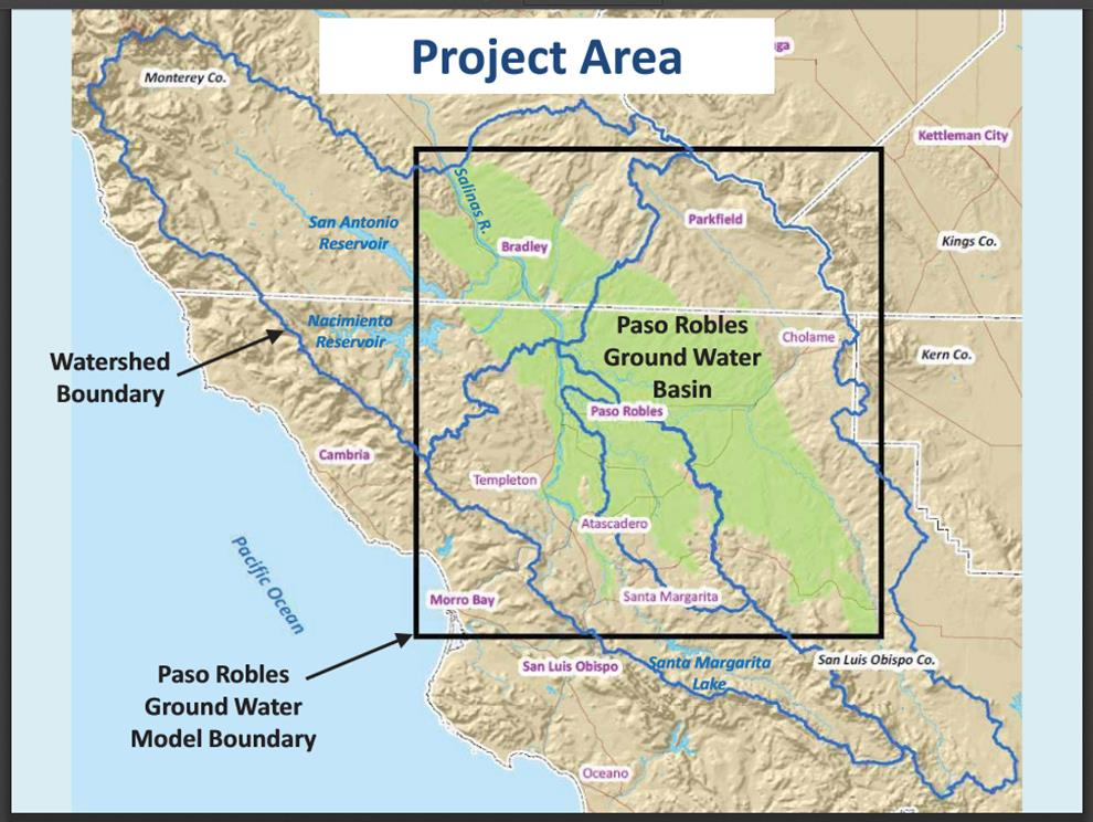A map of the Paso Robles Groundwater Basin